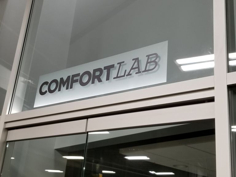 Sears History Photo. Picture of the new Sears Comfort Lab.
