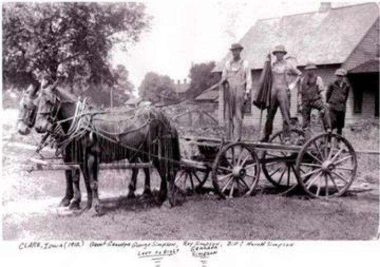 Sears History Photo. Bridles. Picture of horses and wagon.